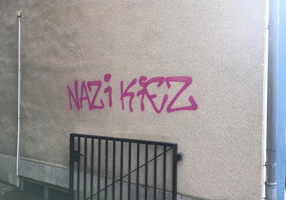In Braunschweig tauchten am Wochenende viele Nazi-Schmierereien auf. Foto: Alexander Dontscheff
