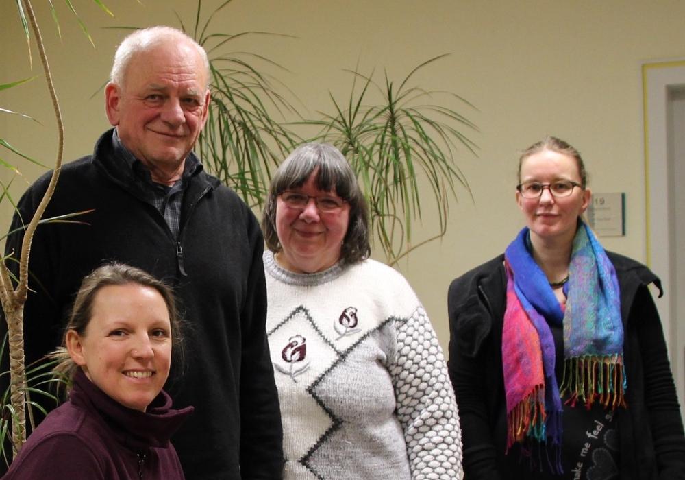 Das Organisationsteam Trialog Forum seelische Gesundheit (v.l.): Nadja Stehlin, Hermann Spörl, Maria Matzel und Dominice Gebhardt. Foto: Landkreis Peine