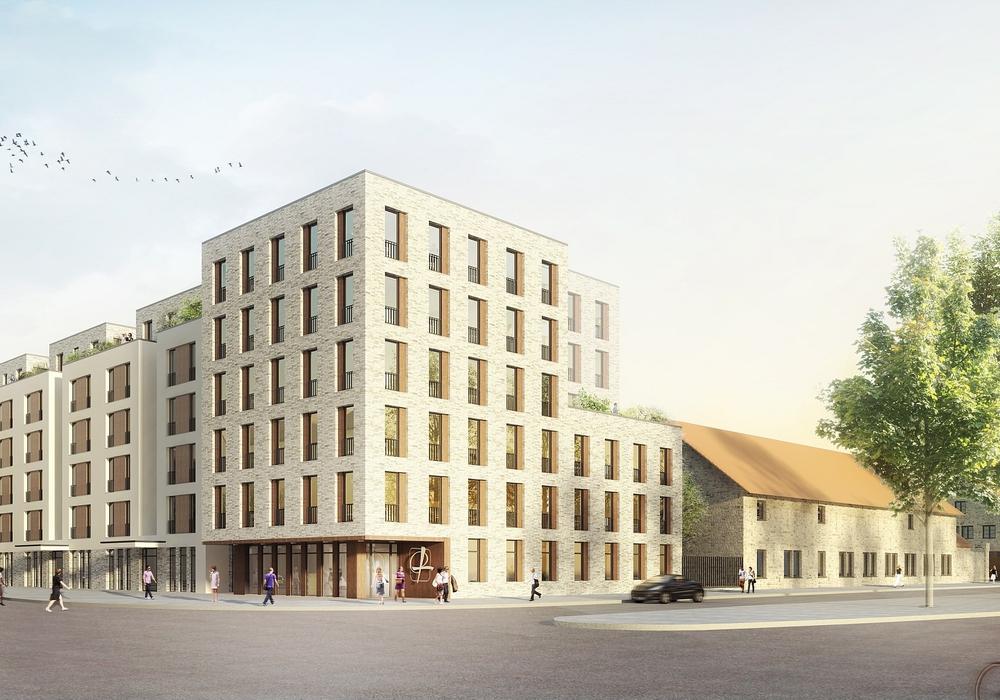 Quartier St. Leonhard / Ansicht Kulturhof.  Quelle: Feddersen Architekten / sichtvision