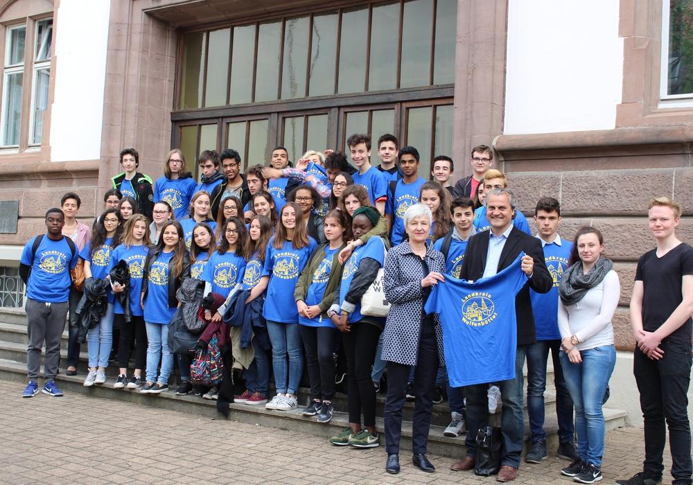 Begrüßung der Austauschschüler aus Cachan. Foto: Max Förster