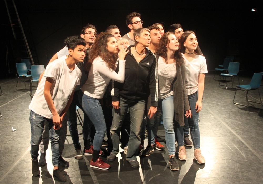 GRINS e.V. zeigt Visionen einer besseren Welt. Foto: LOT-Theater/Pressefoto
