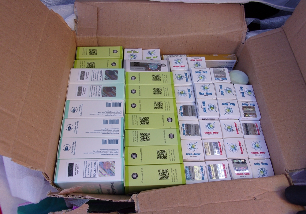 1.475 Dopingmittel beschlagnahmte der Braunschweiger Zoll am Dienstag an der Autobahn 2 nahe Helmstedt. Foto: ZOLL