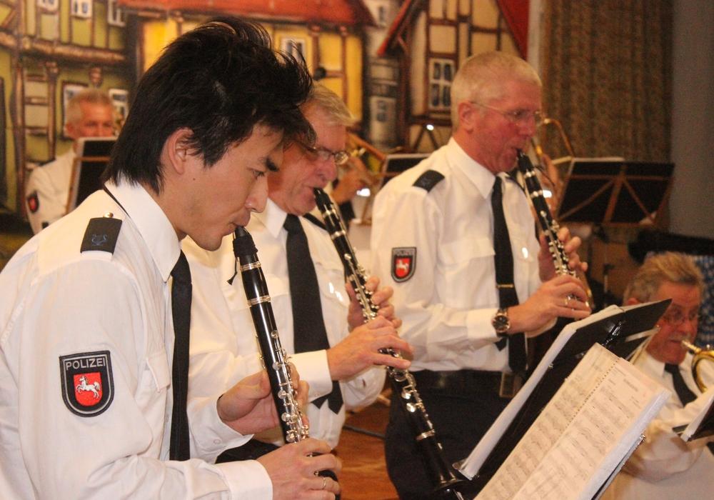 Das Polizeiorchester in Hornburg. Foto: Anke Donner.