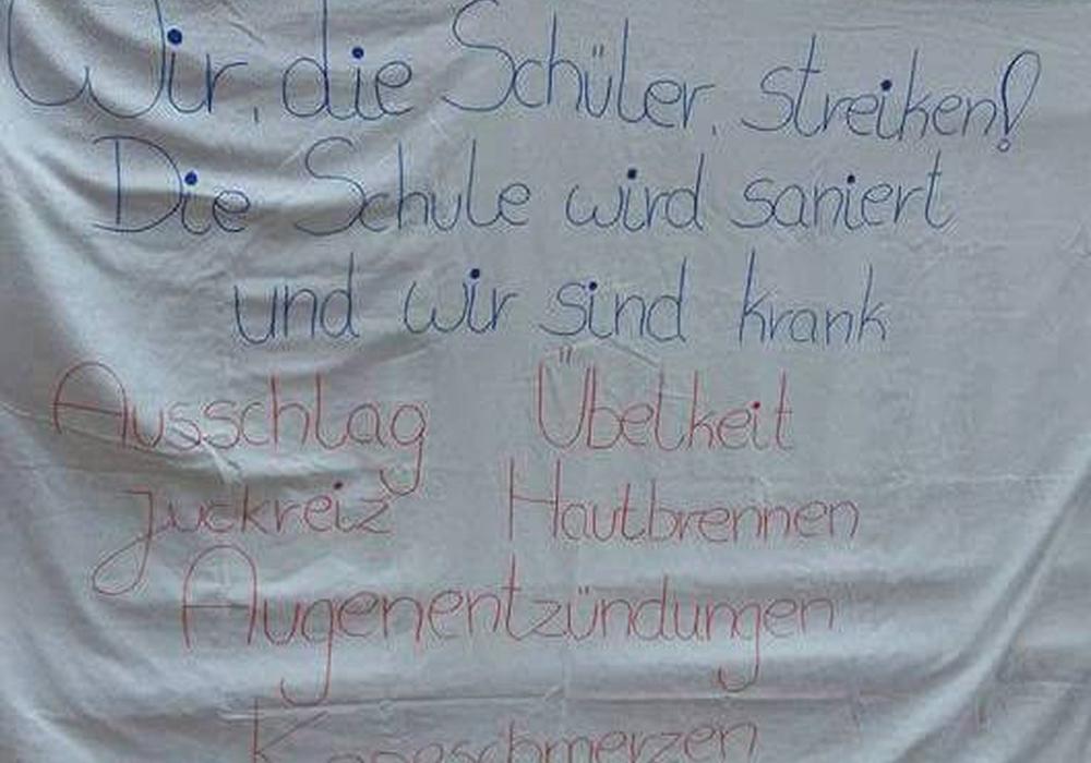 Klare Botschaft der Schüler, Foto: privat