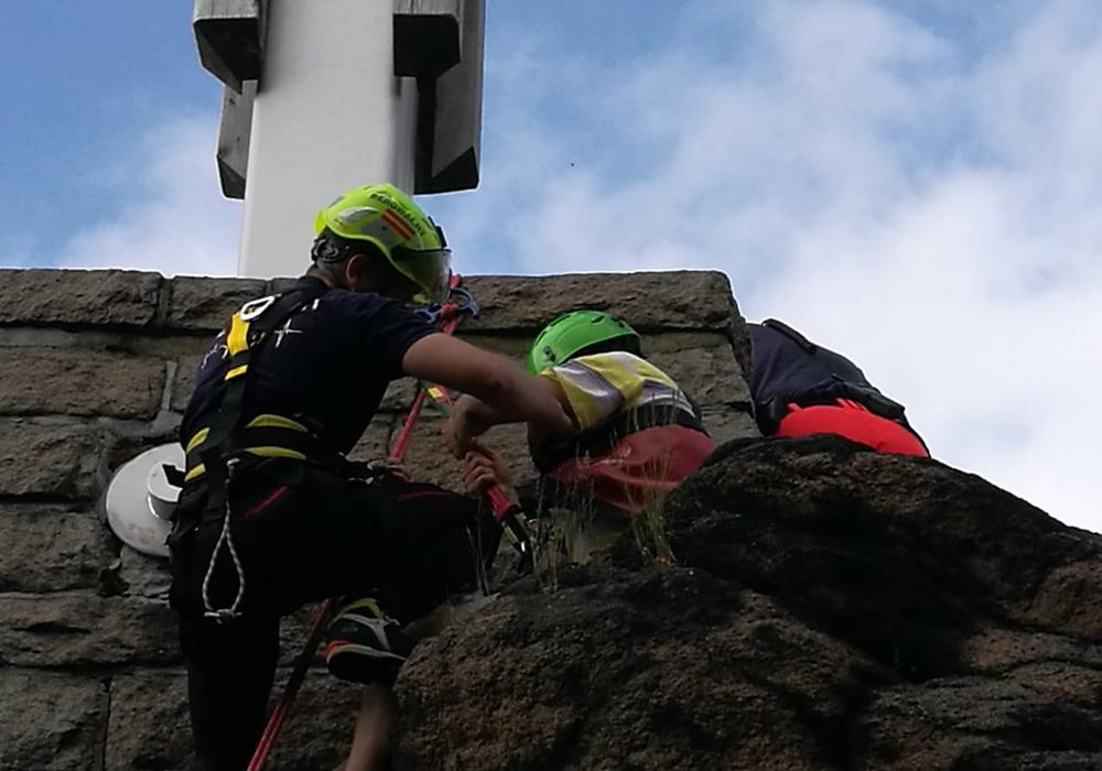 Ein Kletterer musste von der Bergwacht gerettet werden. Foto: Bergwacht