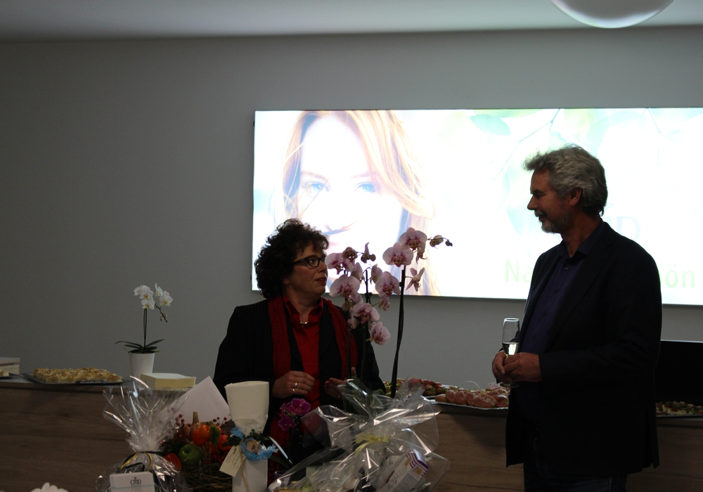 Renate Lucksch und Carl-Michael Diedrich sprachen über Unternehmergeist und Mut. Foto: Nino Milizia