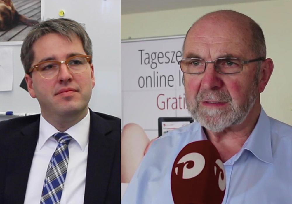 Christian Rehse, rechts, hatte auf die Hilfe von Oberbürgermeister Dr. Oliver Junk gehofft. Archivfoto: Max Förster, Werner Heise