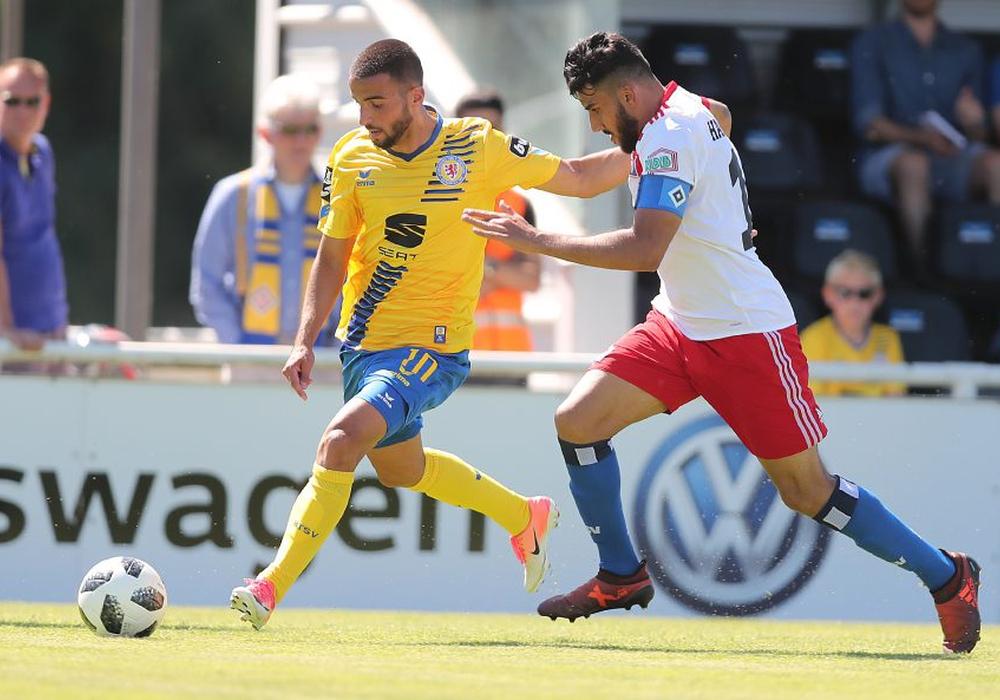 Mergim Fejzullahu traf für Eintracht Braunschweig. Foto: Agentur Hübner/Archiv