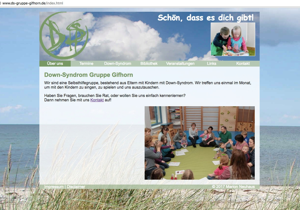 Auf der Homepage der Gifhorner Selbsthilfegruppe erhalten betroffene Familien wertvolle Informationen. Screenshot: Eva Sorembik