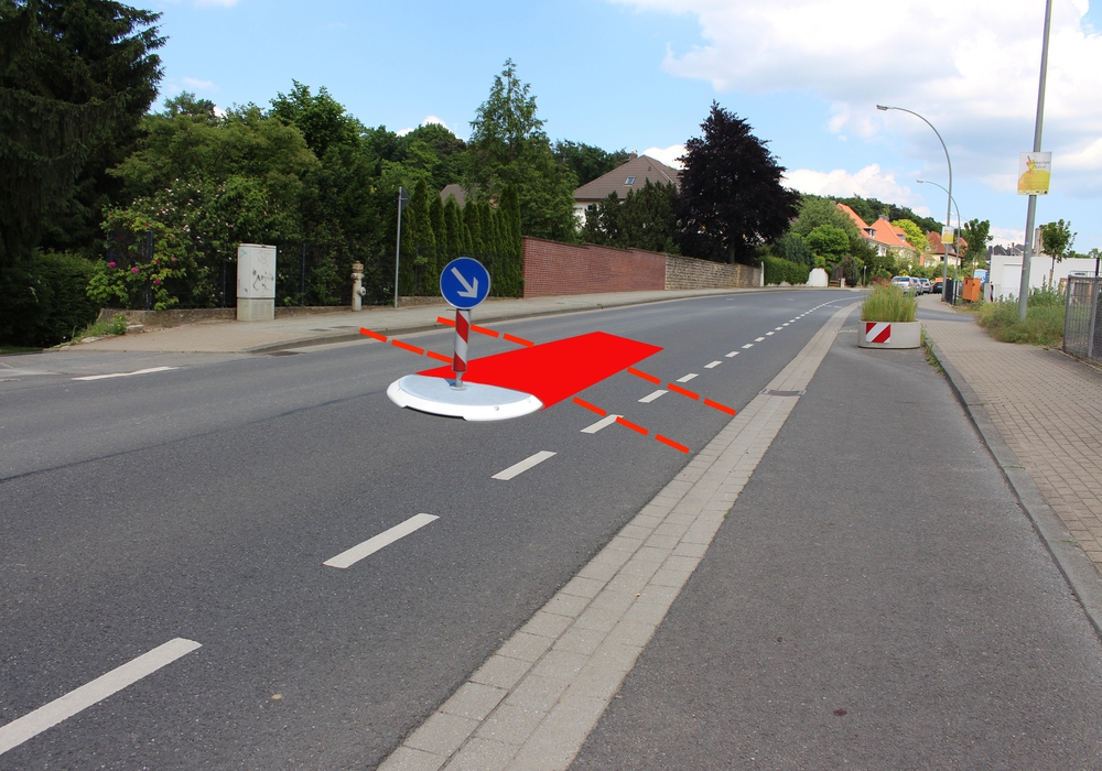 Auf der Salzdahlumer Straße sollen Fußgänger und Radfahrer über eine Querungshilfe in Richtung Lechlumer Holz gelangen. Foto: Nick Wenkel