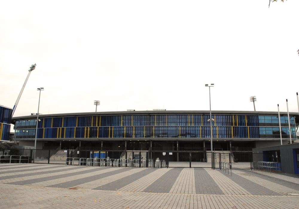 Im Pressebereich des Stadions werden bald neue Arbeitsplätze eingerichtet werden. Archivbild.