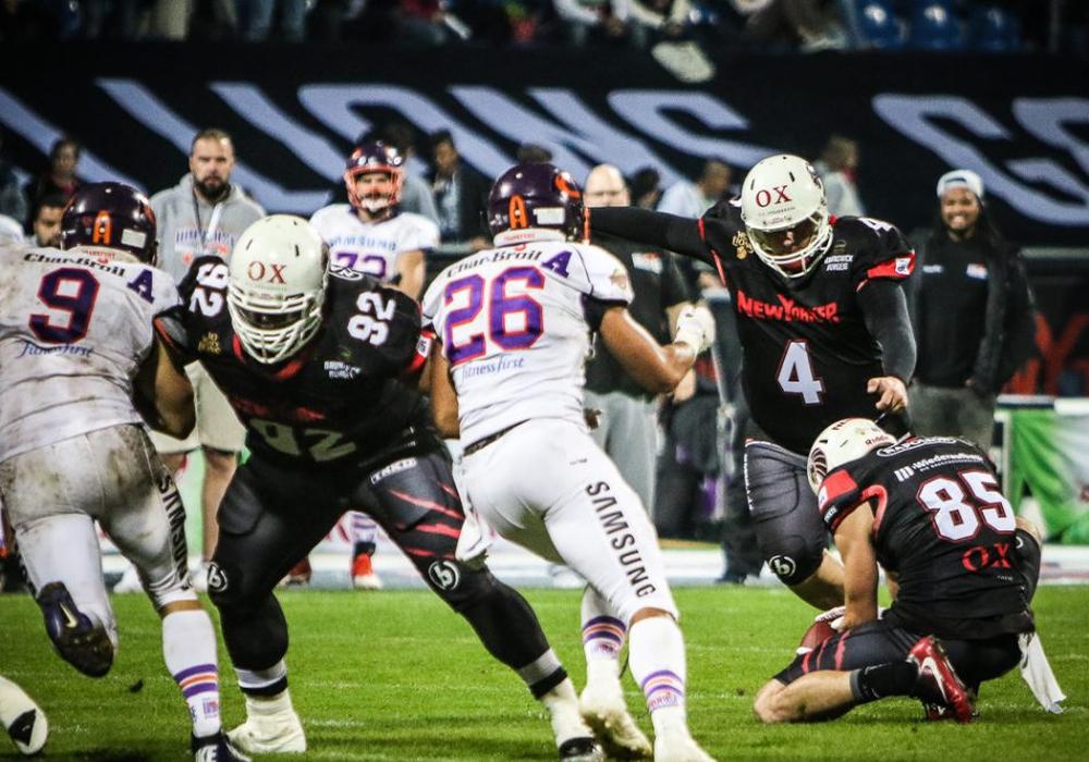 Eine besondere Rolle spielen der Quarterback und der Kicker. Foto: Rolf Daus/New Yorker Lions