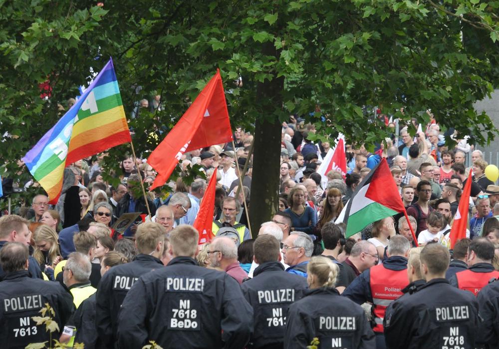 Das Goslarer Bündnis gegen Rechts zeiht eine positive Bilanz zur Demo am Samstag. Foto:  Alexander Panknin