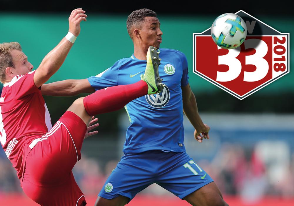 Felix Uduokhai ist sicherlich einer der Gewinner in der Vorbereitung beim VfL Wolfsburg, der am Samstag in Elversberg in den DFB-Pokal startet. Foto: Agentur Hübner