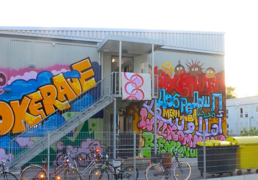 Die städtische Gemeinschaftsunterkunft Okeraue. Foto: Anke Donner