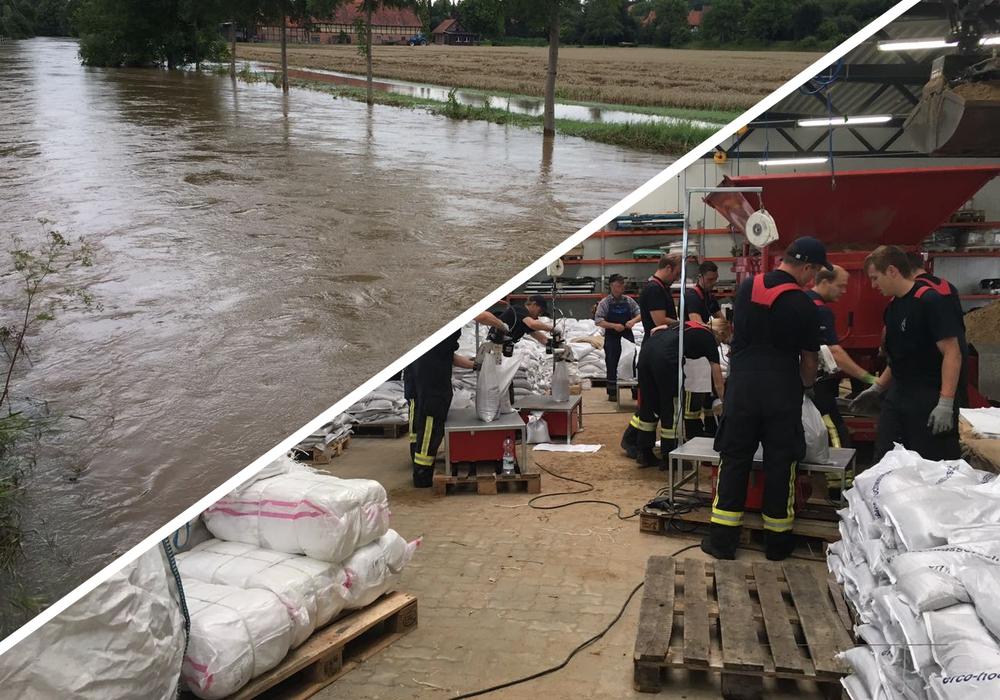 In Hornburg sinkt derweil der Wasserpegel der Ilse und im Gut Steinhof in Braunschweig werden Sandsäcke vorbereitet. Fotos/Videos: Anke Donner/Alexander Dontscheff/Aktuell24 (BM)