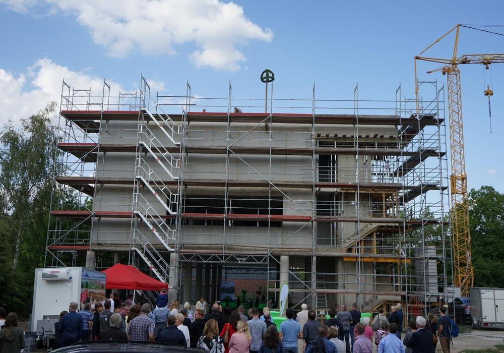 Gut aufgestellt für die Zukunft: Am Bültenweg entsteht der neue VWG-Firmensitz. Foto: Marc Angerstein Media GmbH