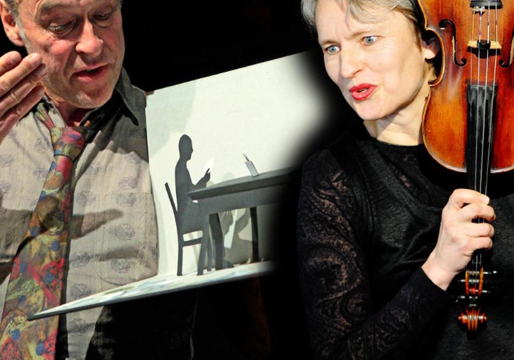 """Hedwig Rost und Jörg Baesecke präsentieren """"Die kleinste Bühne der Welt"""". Foto: Veranstalter"""