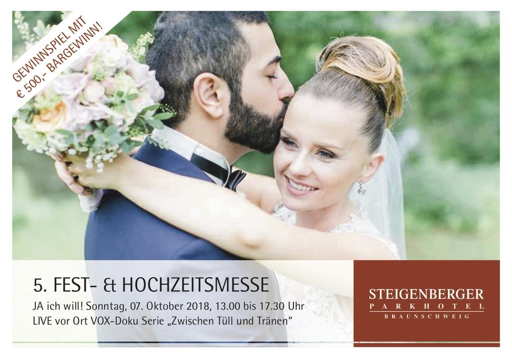 """Das Steigenberger Parkhotel Braunschweig lädt zu seiner 5. Fest- und Hochzeitsmesse """"JA ICH WILL"""" am 7. Oktober. Quelle: www.dianafrohmueller.com, Steigenberger Hochzeitspaar 2016, ERCAN loves MEL, Instagram mel____belle"""
