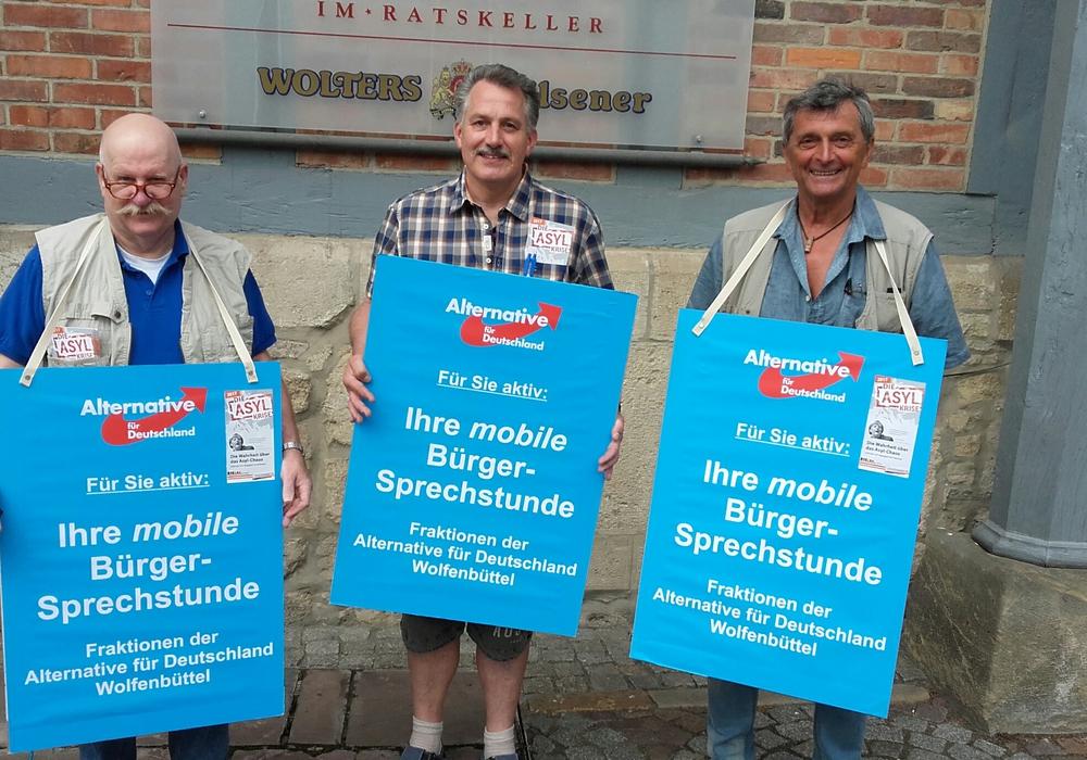 Achim Nieder, Klaus-D. Heid und Dr. Manfred Wolfrum. Foto: Heid