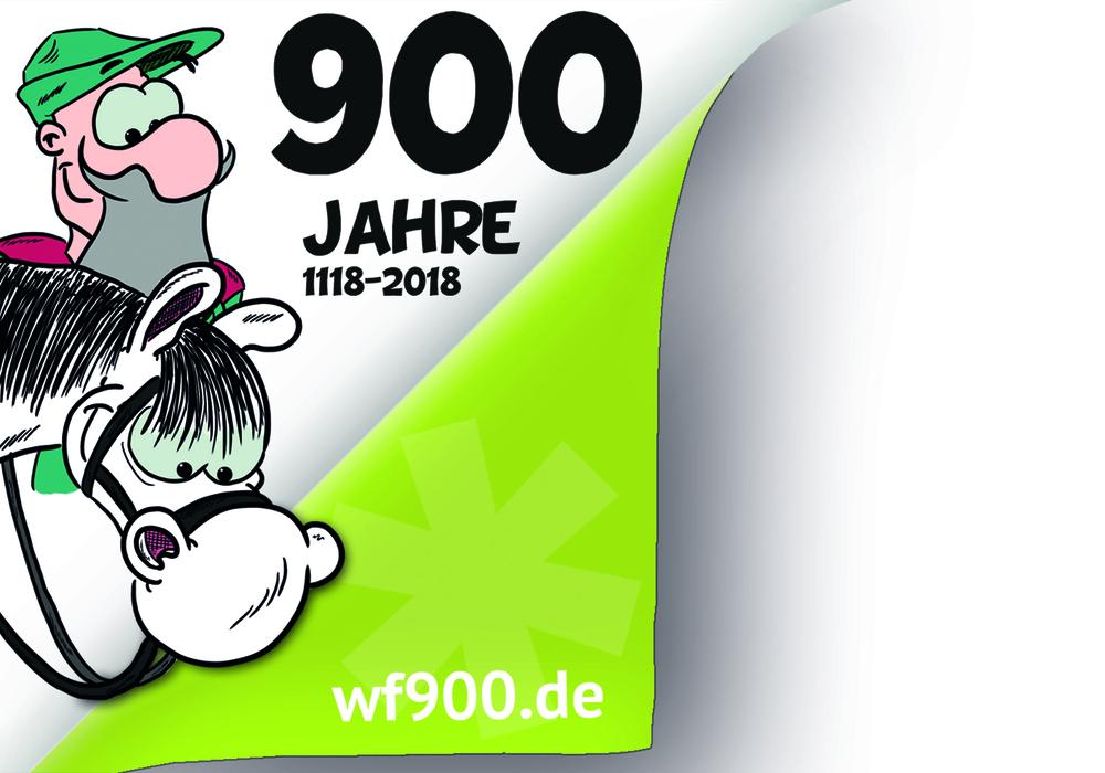 Schon jetzt sollen sich Veranstalter für das große Stadtjubiläum melden. Foto/Logo: Raedlein/Stadt Wolfenbüttel