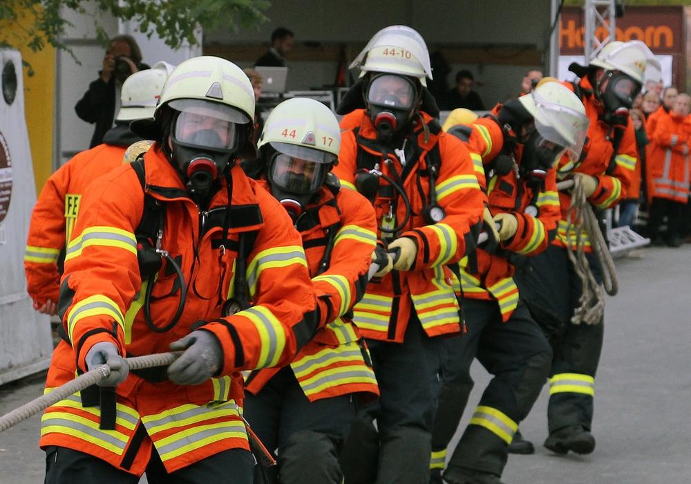 In diesem Jahr wird es kein Feuerwehr-Pulling geben. Foto Archiv/Thorsten Raedlein