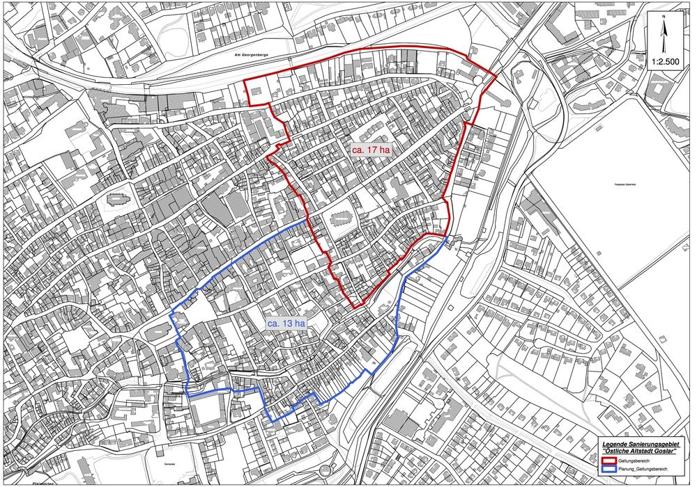 Das geplante Sanierungsgebiet. Grafik: Stadt Goslar