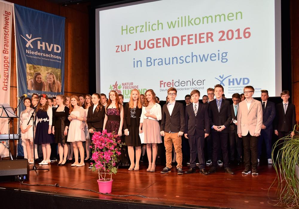 39 Jugendliche feiern Übergang vom Jugend- ins Erwachsenenalter. Foto: Privat