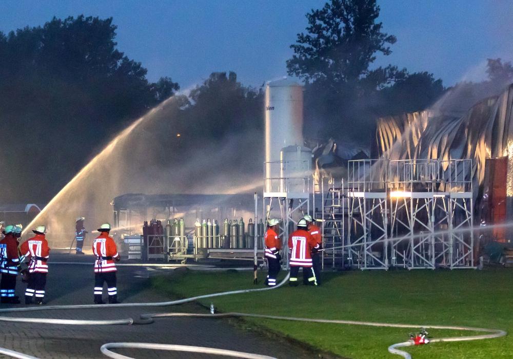 Große Teile des SILEO-Werks und der Verwaltung wurden beim Großbrand zerstörtFoto: R. Karliczek