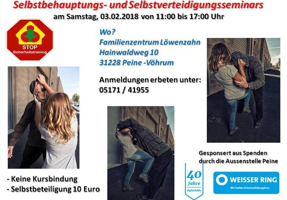 Die Informationen zum Seminar im Überblick. Bild: Weisser Ring e.V.