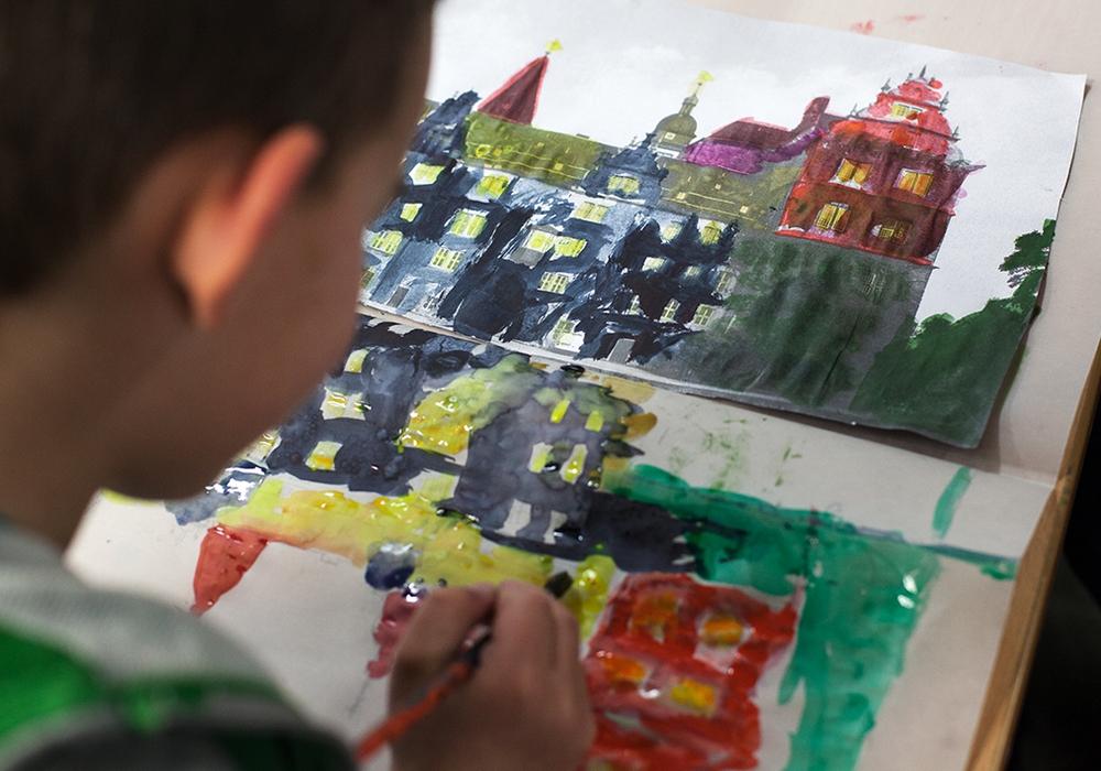 Offenes Atelier im Schloss Wolfsburg. Foto: Ina Hengstler