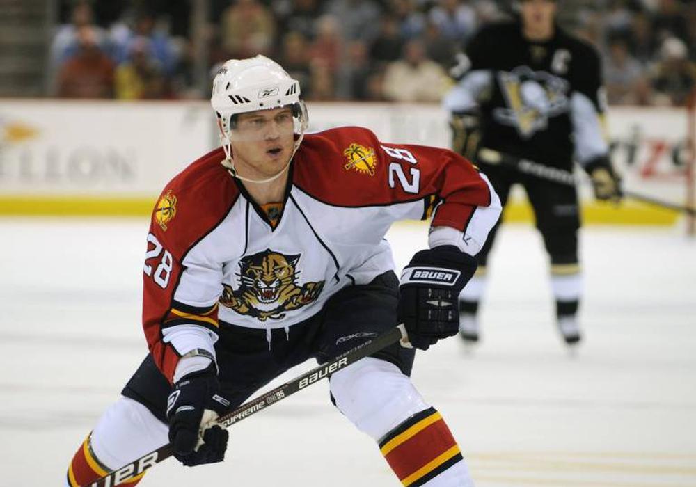 Kreps ging bereits für die Florida Panthers in der NHL auf Puckjagd. Foto: imago/Icon SMI