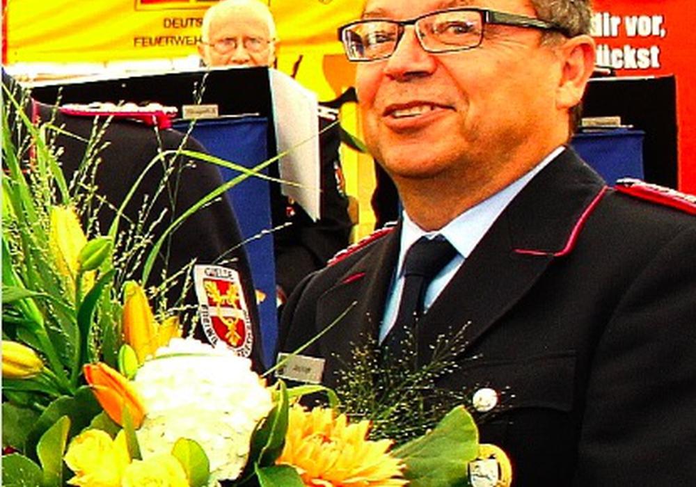 Danksagungen an den ehemaligen Brandabschnittsleiter West , Jörg Koglin. Foto: Privat