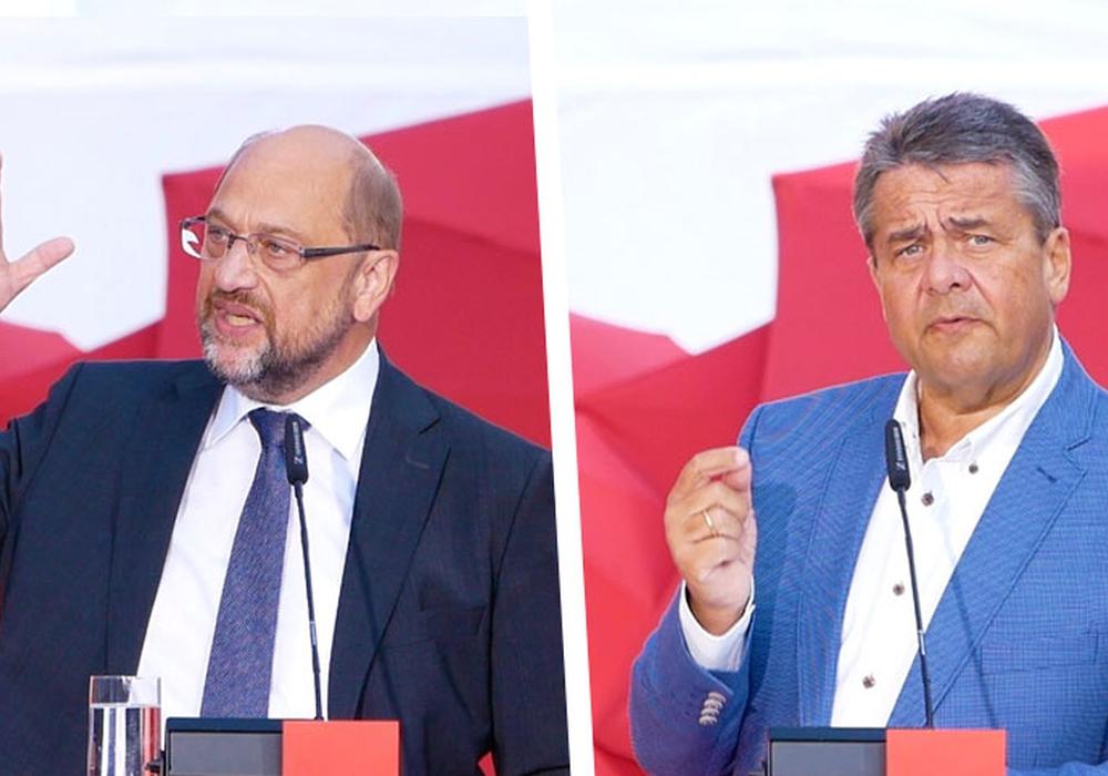 """Beide SPD-Politiker fanden klare Worte für die """"hetzerische Politik"""" der AfD. Foto/Videos: Alexander Panknin"""