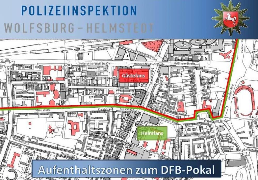 Die Polizei richtet Aufenthaltszonen ein. Foto: Polizei