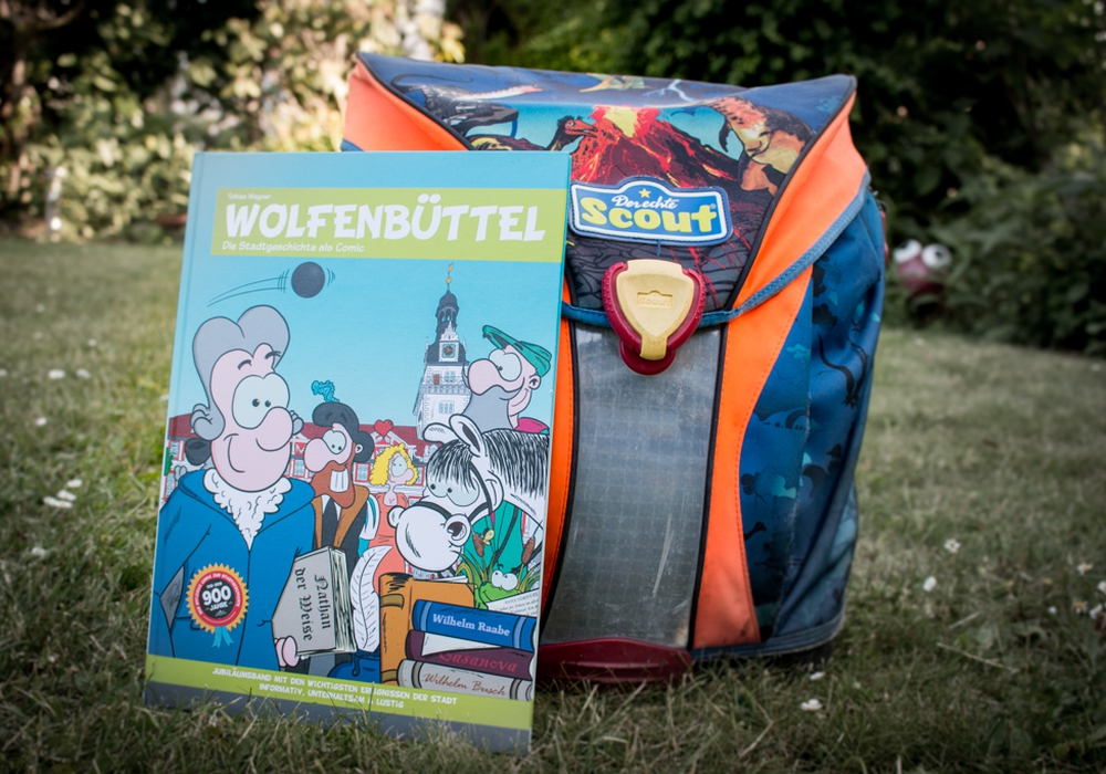 Der Comic über die Wolfenbütteler Stadtgeschichte soll den Wolfenbütteler Schulen kostenlos als Klassensatz zur Verfügung gestellt werden. Foto: Werner Heise