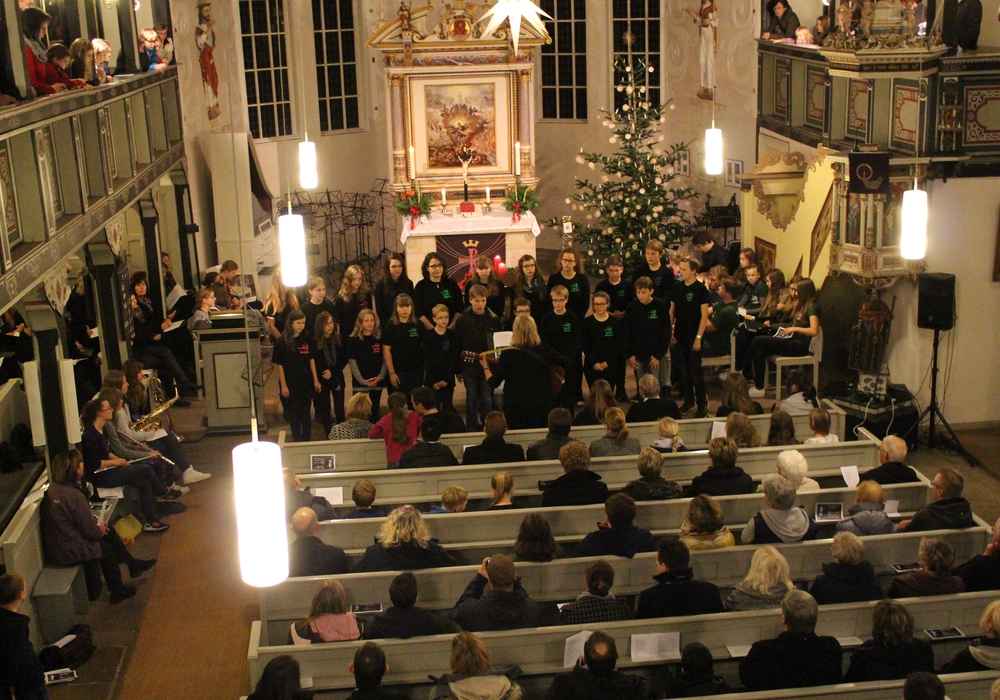 Impressionen vom Weihnachtskonzert des Vorjahres. Foto: Theodor-Heuss-Gymnasium