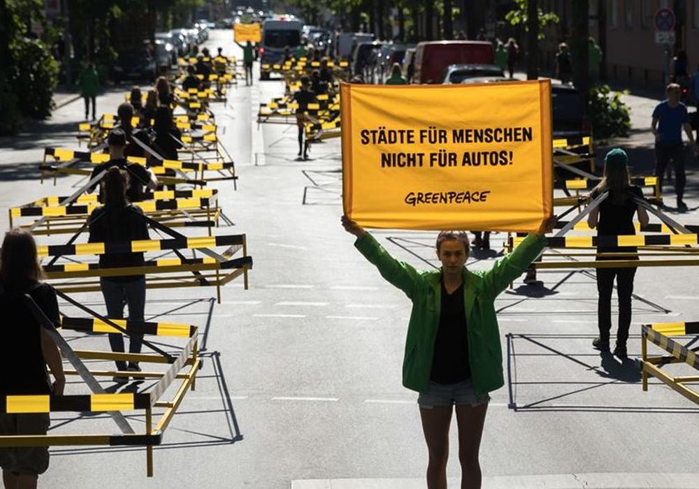 Greenpeace Aktion. Foto: Gordon Welters