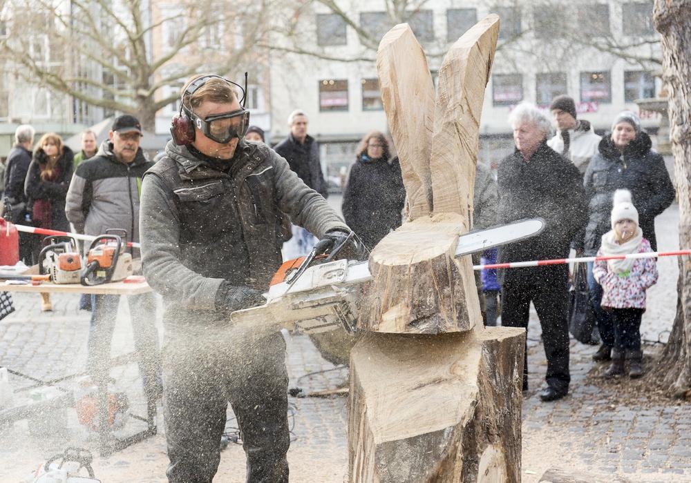 Die winterkunstzeit bringt abwechslungsreiche Livekunst in den öffentlichen Raum. Fotos: Braunschweig Stadtmarketing GmbH/Frank Sperling