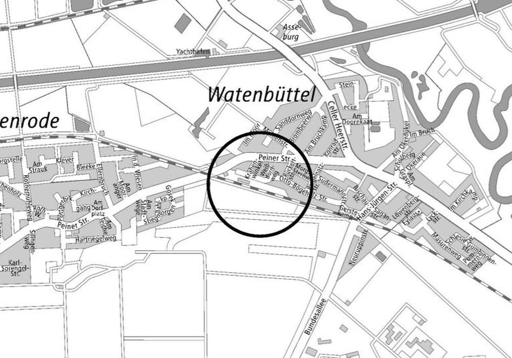Das betroffene Gebiet in der Übersicht. Plan: Stadt Braunschweig