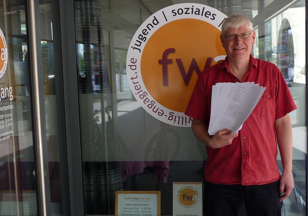 Projektleiter Axel Klingenberg. Foto: Freiwilligenagentur Jugend-Soziales-Sport e.V.