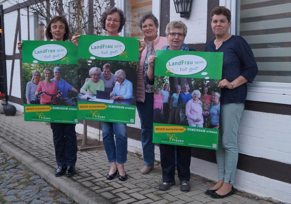 """Der Kreisverband der Land Wolfenbüttel/Salzgitter  starte eine Plakataktion unter dem Motto: """"LandFrau sein tut gut"""". Foto: Landfrauen"""