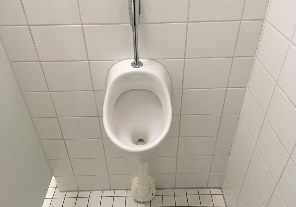 Ein Urinal auf dem Amalienplatz soll das Problem mit Wildpinklern eindämmen. Symbolfoto: Alexander Dontscheff