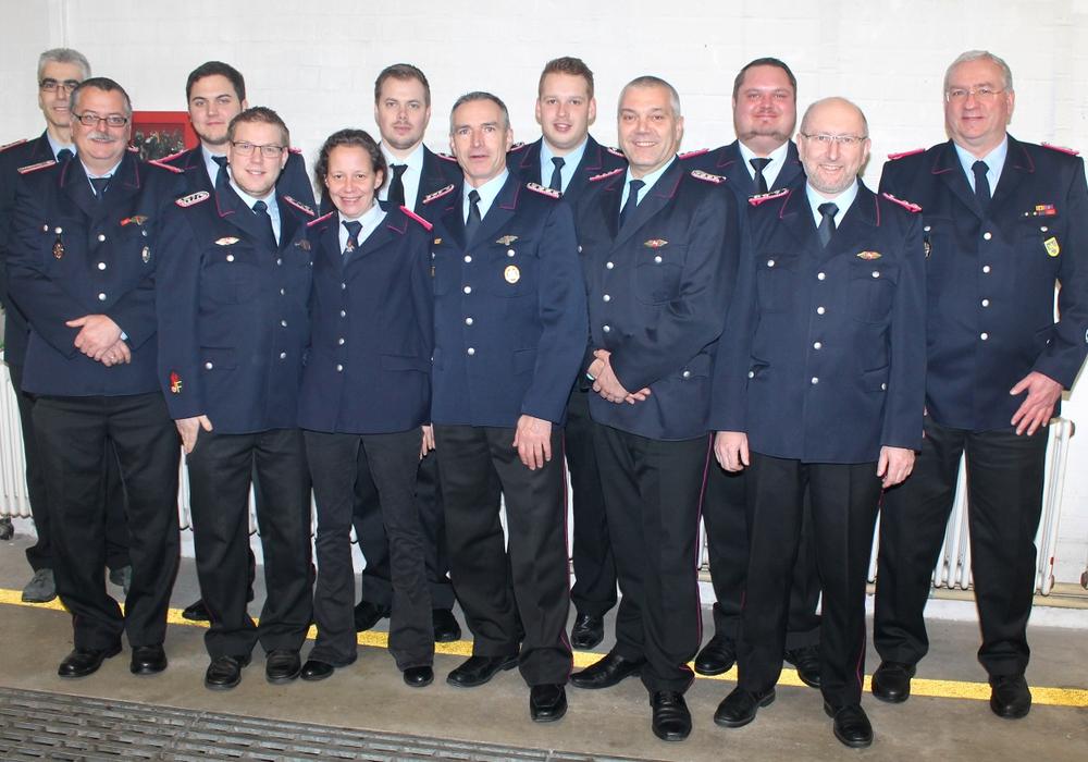 Das neue Kommando der Ortswehr Schandelah auf der Jahreshauptversammlung. Fotos: Privat
