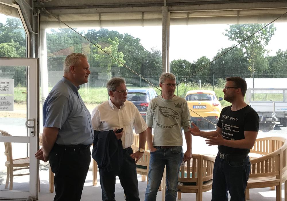 Björn Thümler MdL, Horst Schiesgeries MdL, Jörn Kopmann, Sven J. Mayer. Foto: CDU
