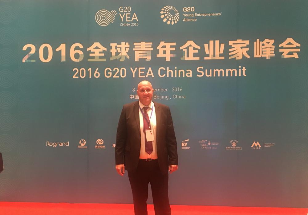 Christian Niemsch beim G20 YEA Summit in China. Foto: Privat