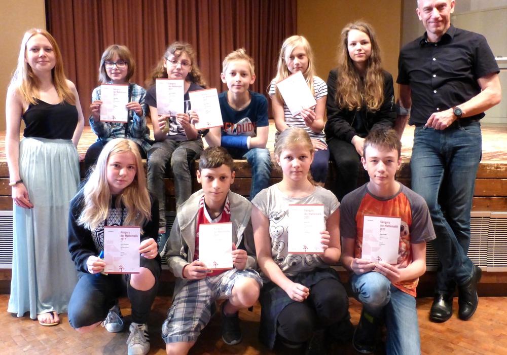 Die Schüler der Adolf-Grimme-Gesamtschule sorgten für einige Erfolgserlebnisse. Foto: Mark Busse
