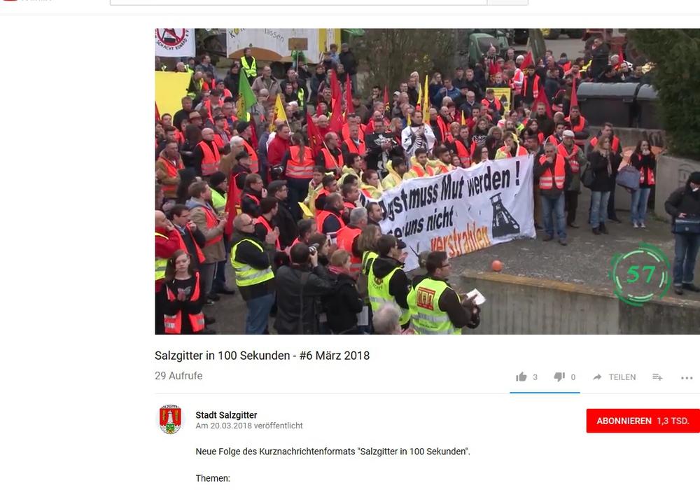 Der Youtube-Kanal der Stadt Salzgitter. Screenshot: Stadt Salzgitter