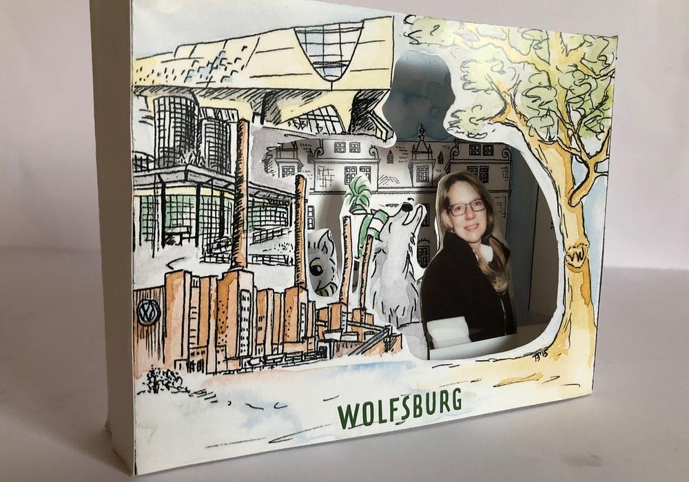 """Theaterkarte"": Zum Basteln im Museum: Theaterkarte Wolfsburg. Foto: Fabian"