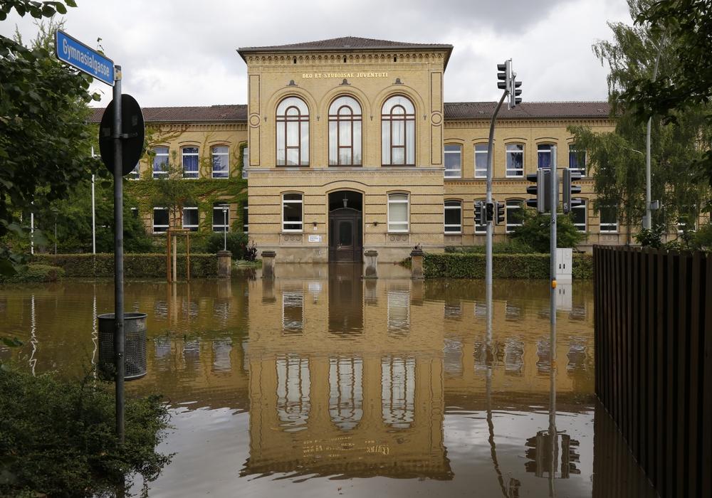 Der Schulbeginn an der Großen Schule fällt buchstäblich ins Wasser. Foto: Stadt Wolfenbuettel-rae